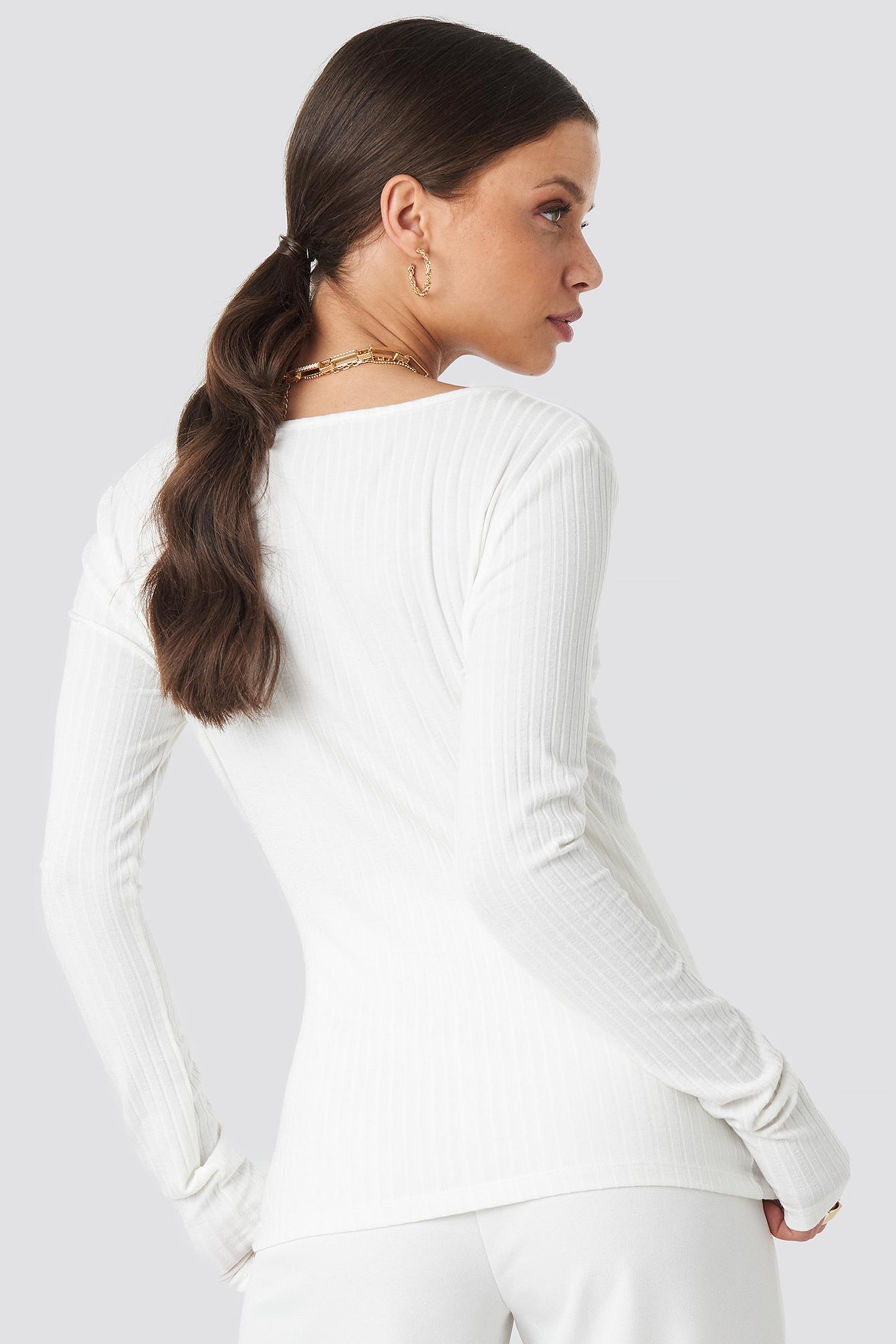 Long Sleeve Ribbed Top NA-KD.COM