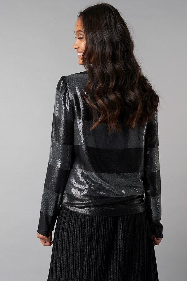 Long Sleeve Sequins Top NA-KD.COM