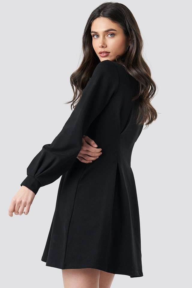Long Sleeve Sweater Dress Black