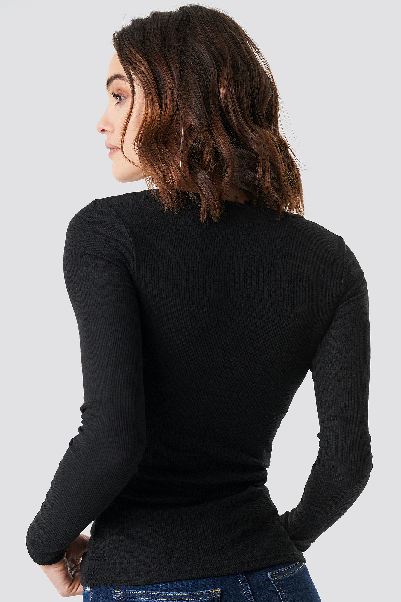 Long Sleeve Zipped Top NA-KD.COM