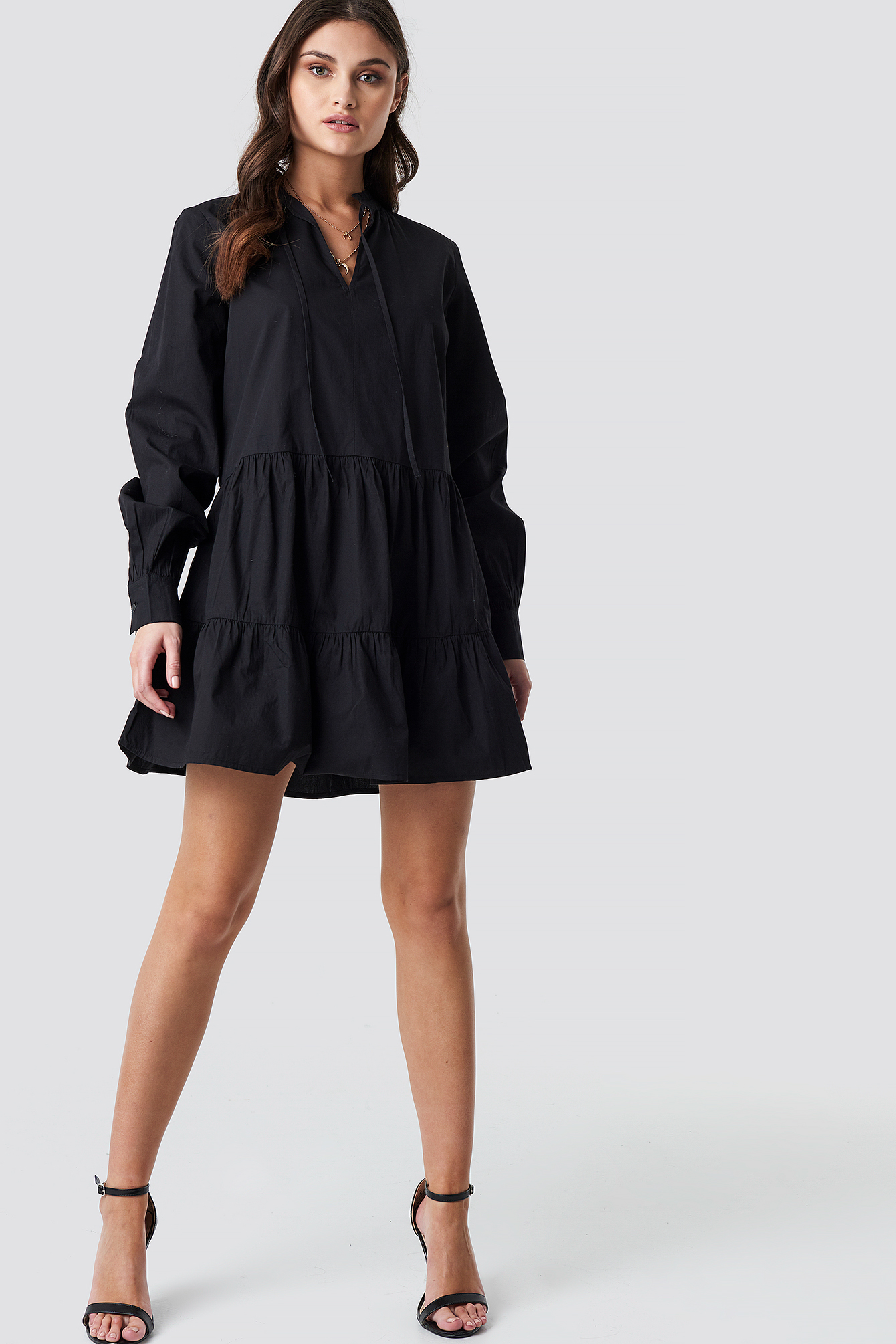 Loose Fit Frill Tunic Dress NA-KD.COM