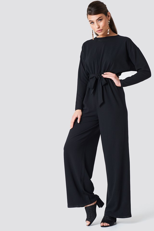 Loose Fit Jumpsuit Black
