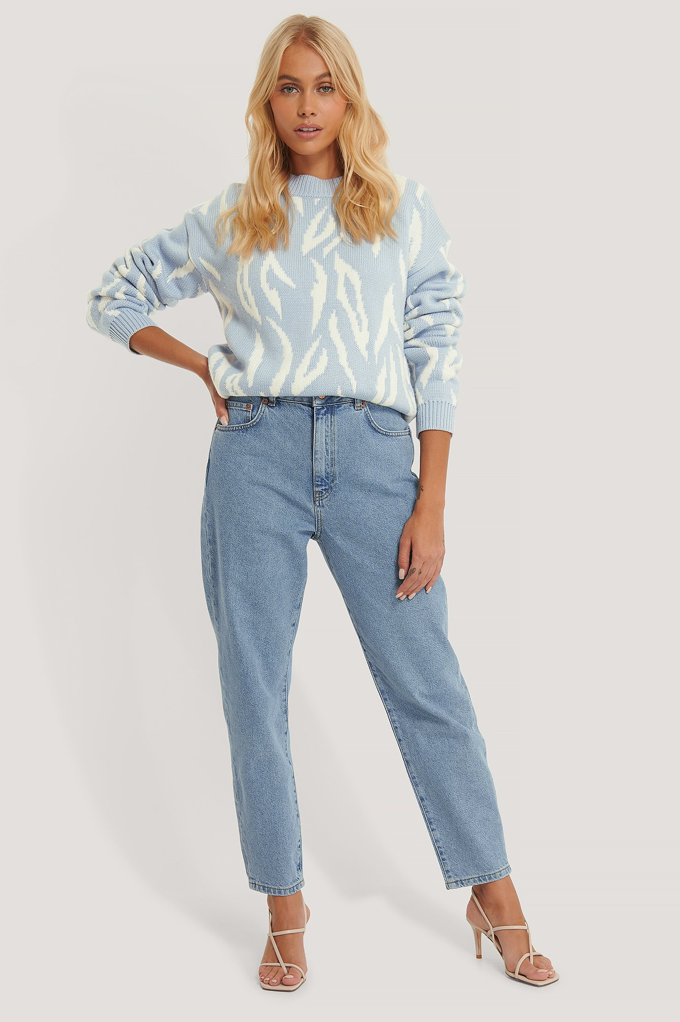 Light Blue Loose Fit Mom Jeans