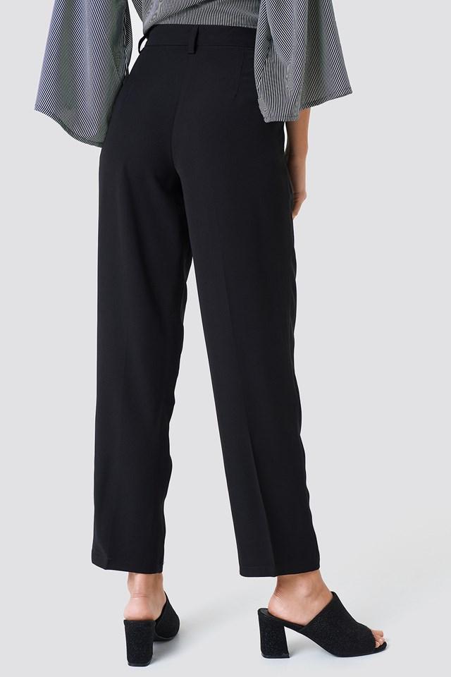 Loose Fit Suit Pants Black