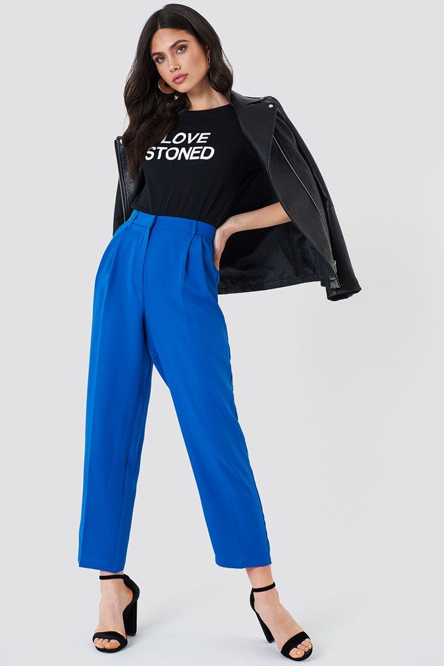 Loose Fit Suit Pants Cobalt