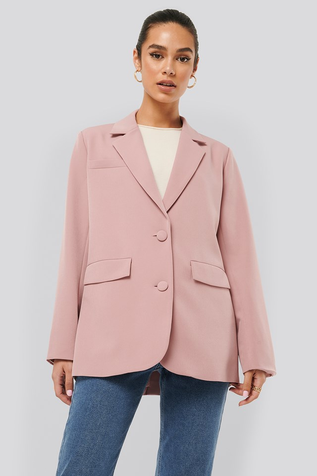 Loose Fitted Blazer Pink
