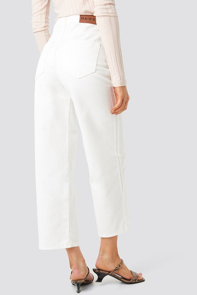Loose Leg Jeans Offwhite