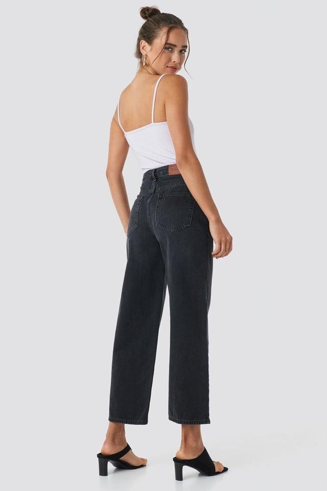 Loose Leg Jeans Black