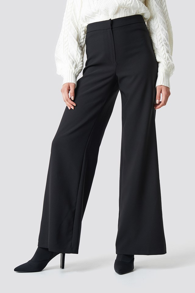 Loose Leg Pants Black