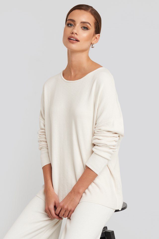 Lounge Round Neck Sweater Off White