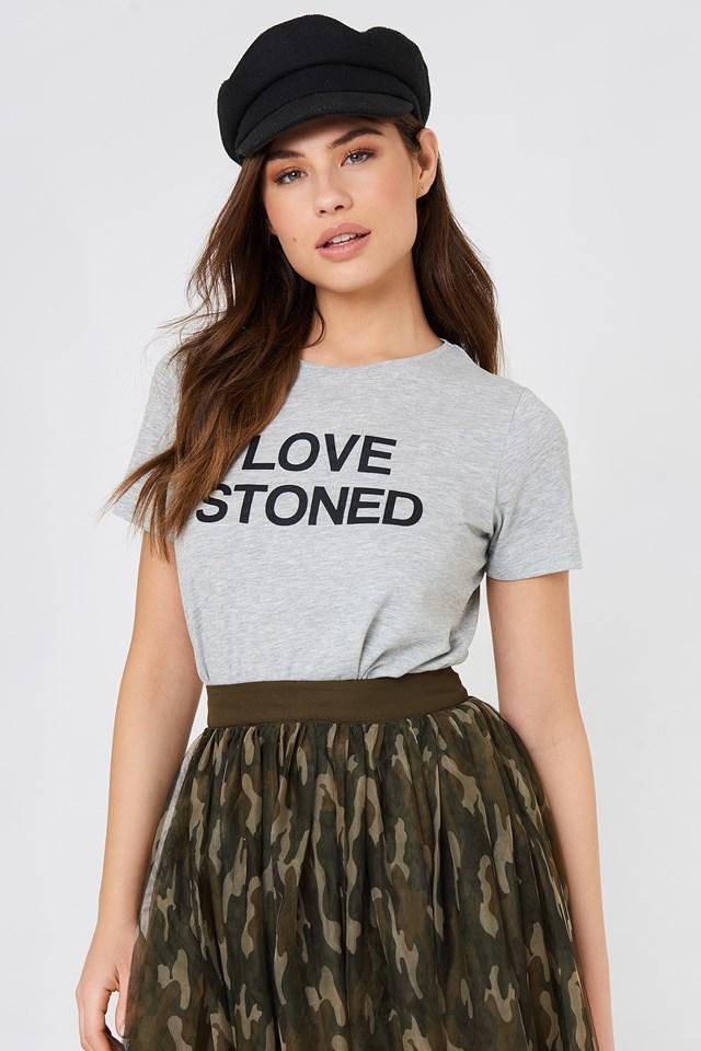 Love Stoned Tee Grey