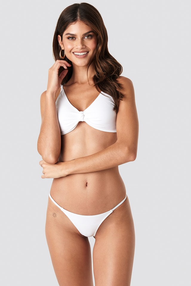 Low Cut Brazilian Bikini Bottom White