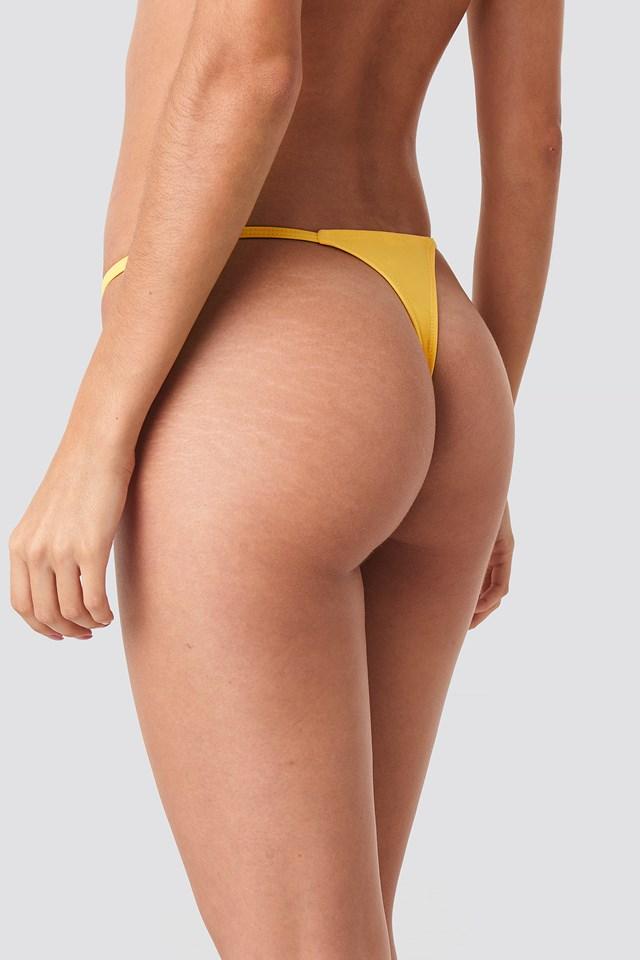 Low Cut Brazilian Bikini Bottom Yellow