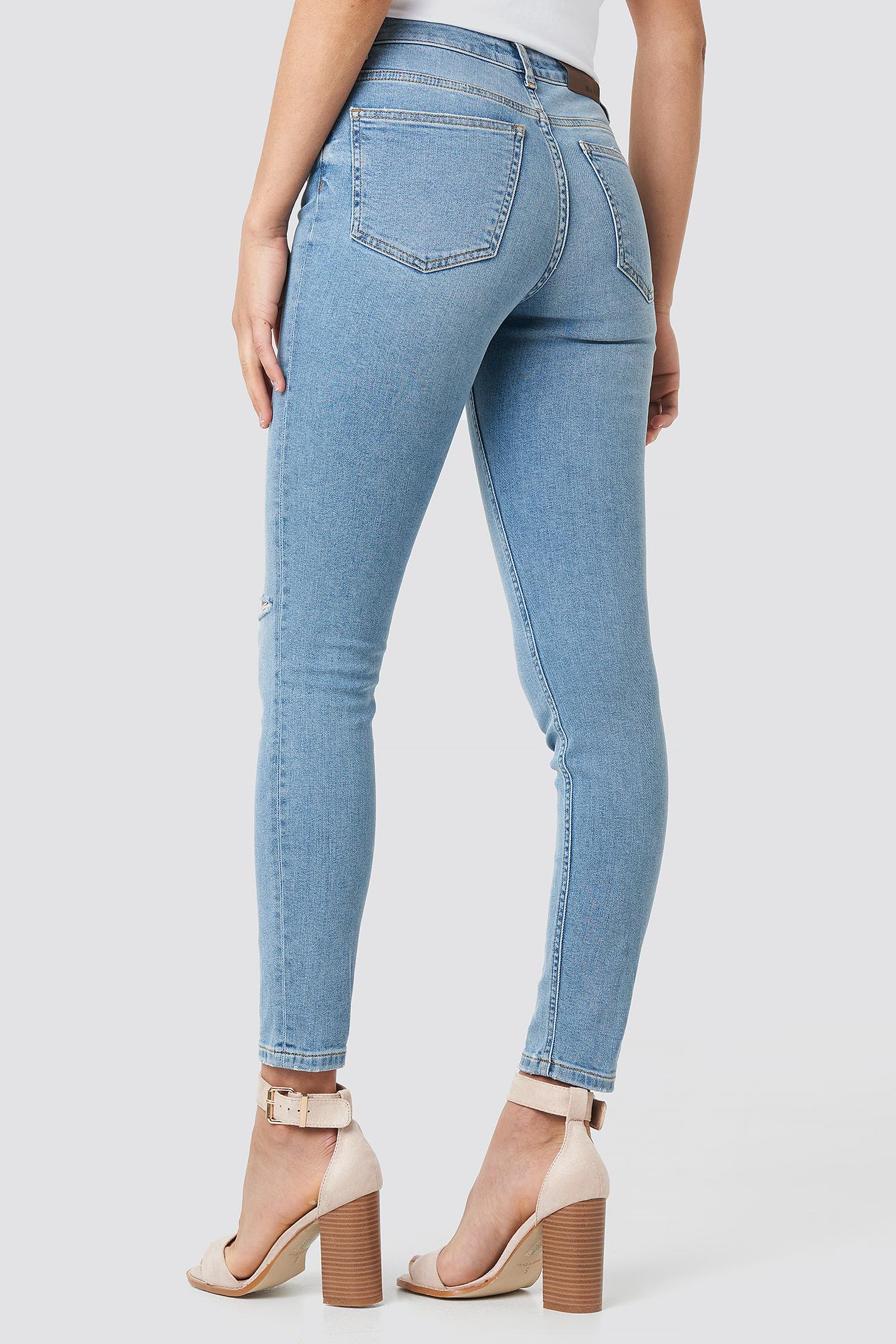 Low Rise Distressed Skinny Jeans NA-KD.COM