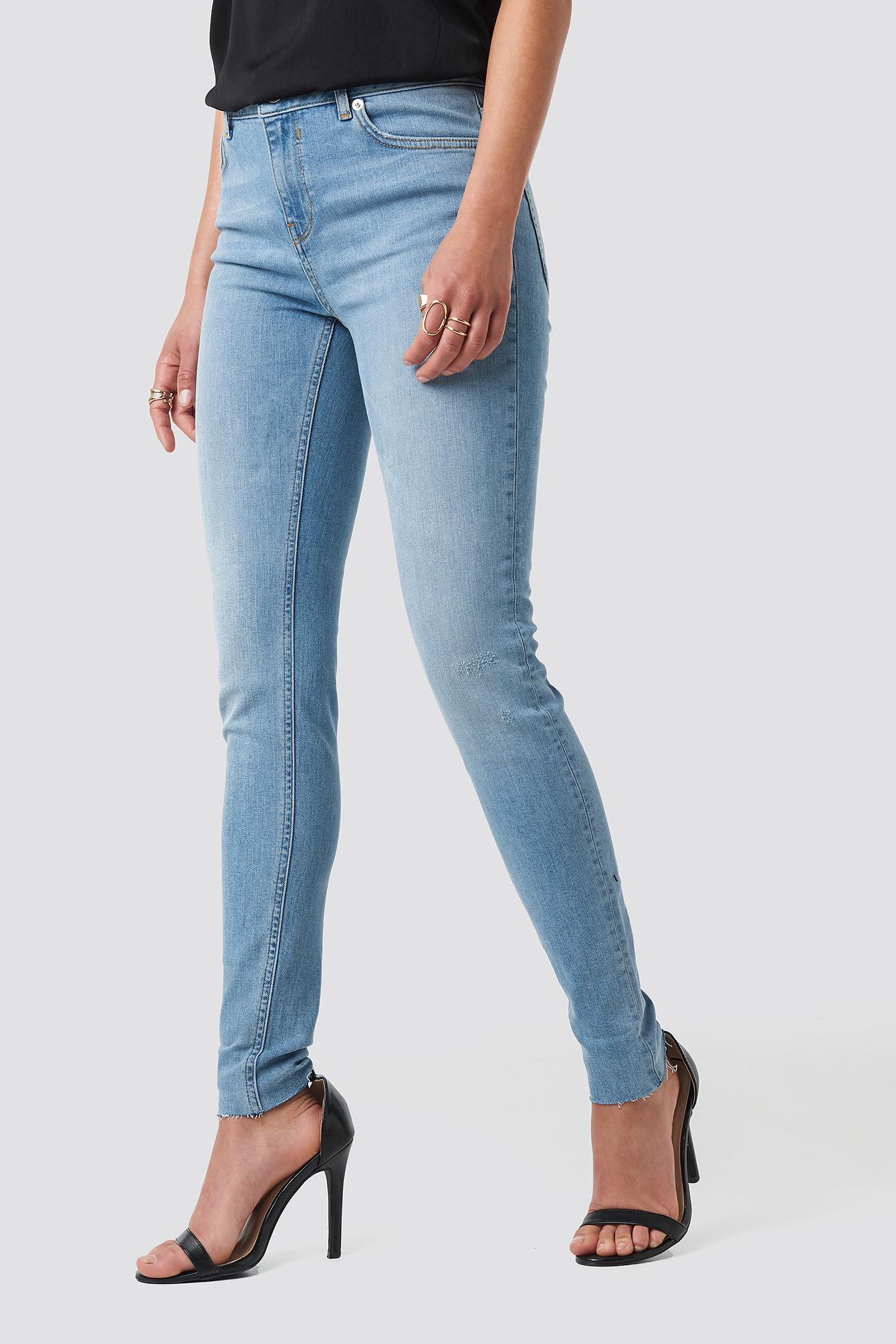 Low Rise Turn Up Skinny Jeans NA-KD.COM