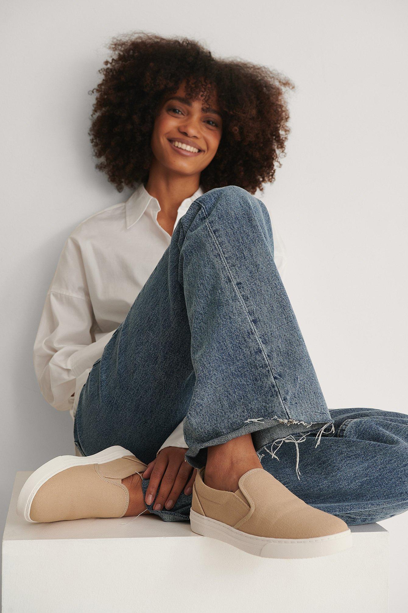 NA-KD Shoes Slip In Sneakers - Beige