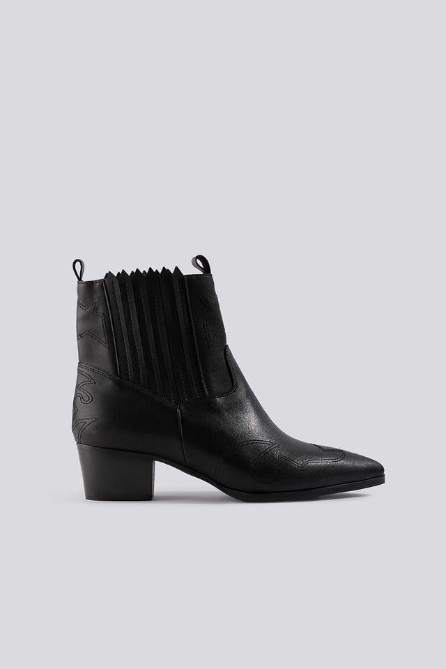 Low Western Boots Black