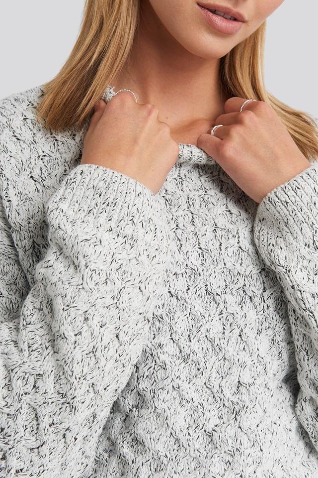 Maddy Sweater Light Grey Melange