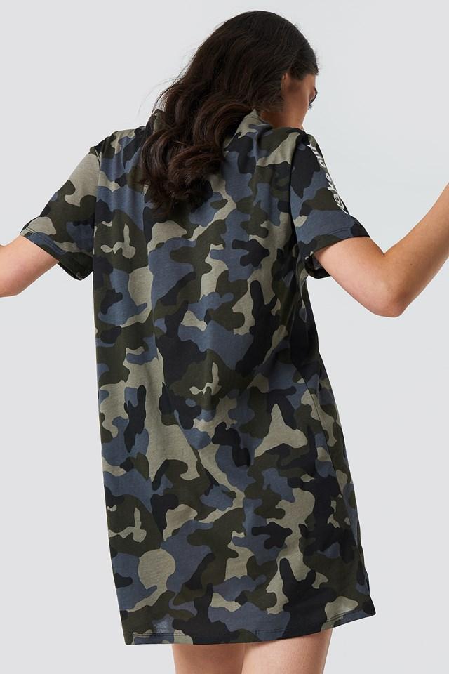 Make Out T-shirt Dress Camo