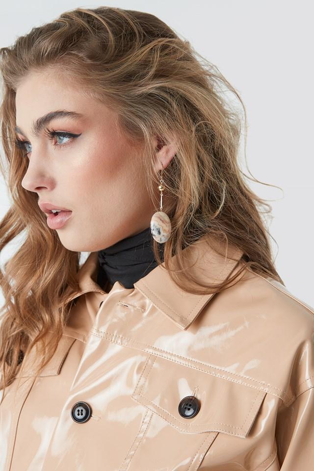 Marble Earrings Stone