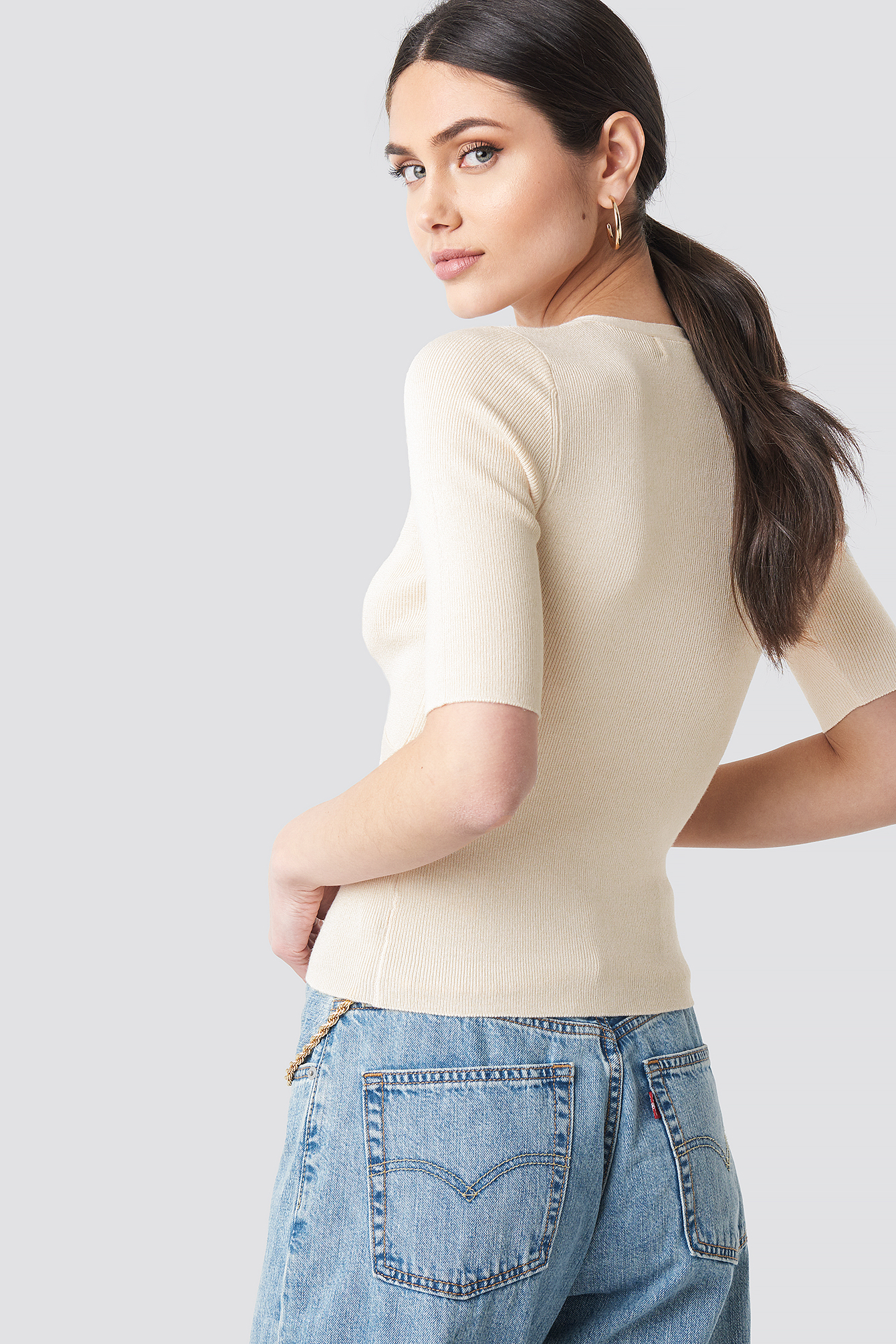 Marked Bust Line Sweater NA-KD.COM