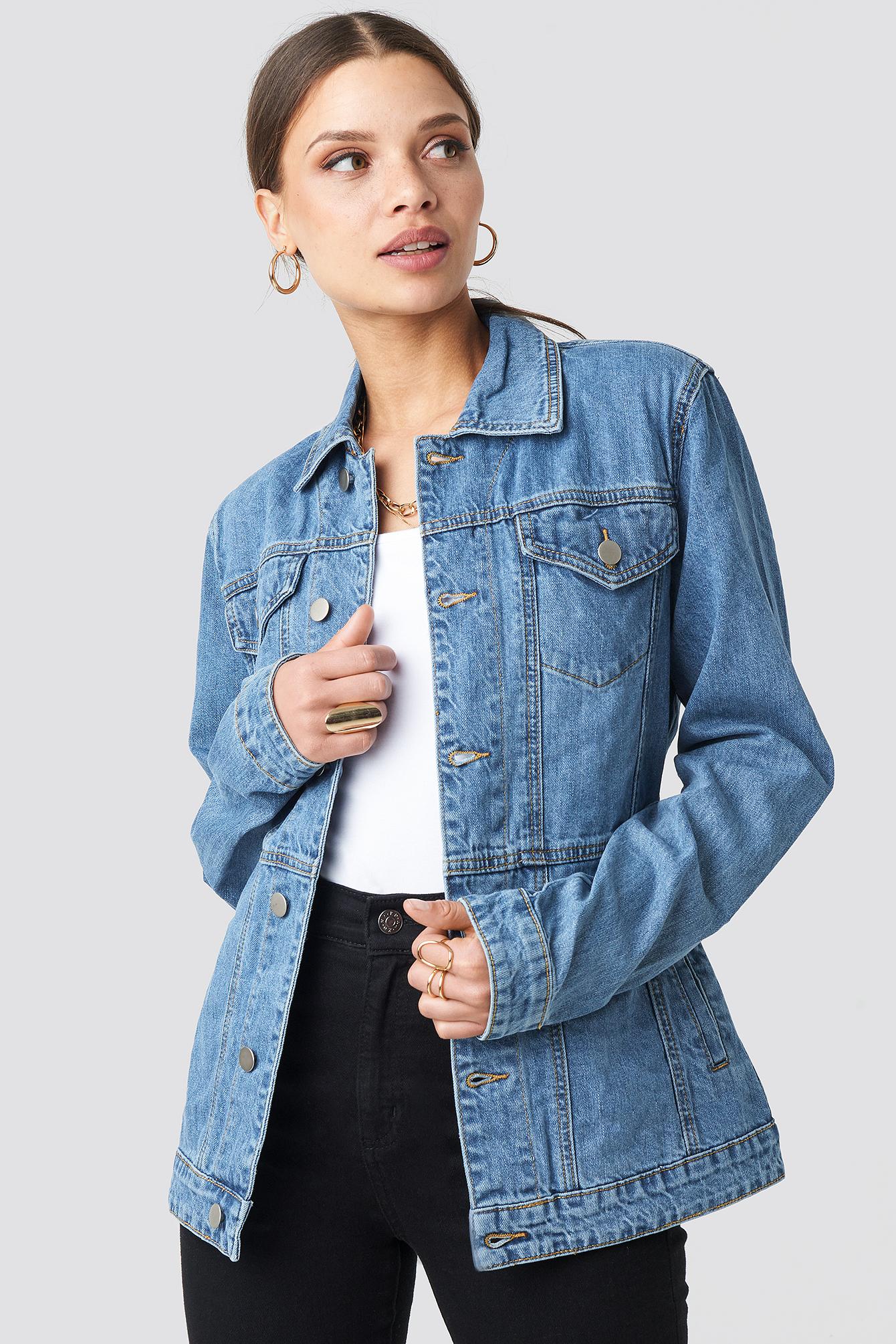 Marked Waist Denim Jacket NA-KD.COM