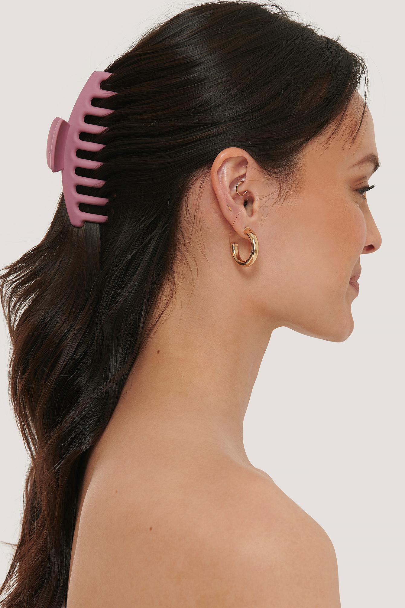 Na-kd Matte Big Hairclip - Pink