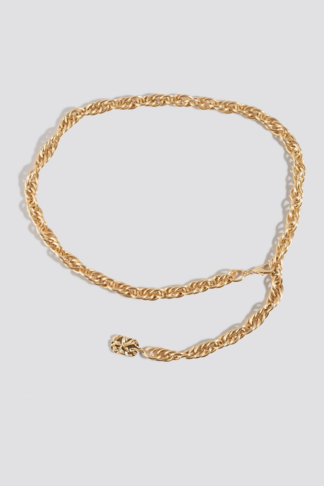 Matte Chain Belt Gold