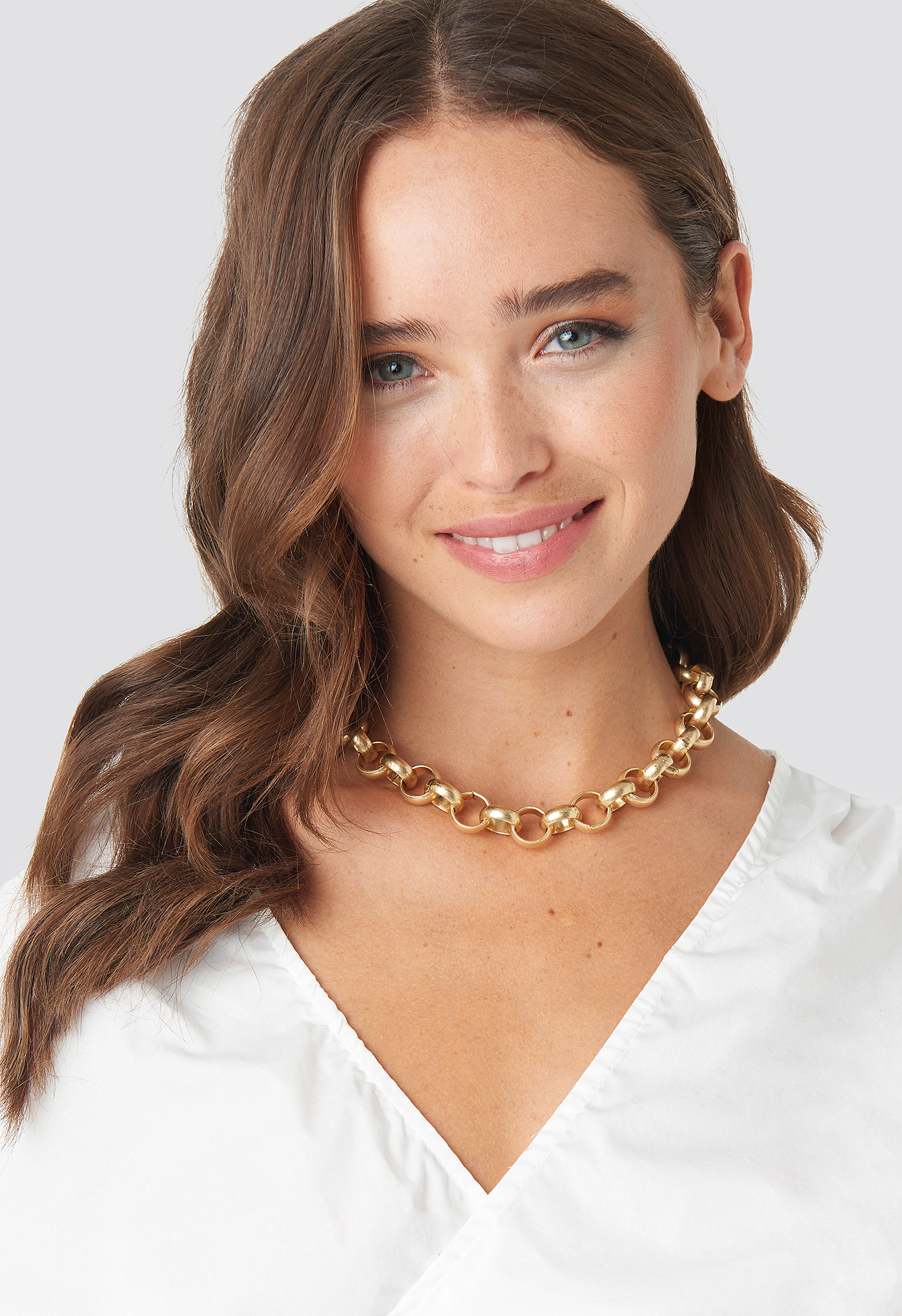 na-kd accessories -  Matte Chunky Chain Necklace - Gold