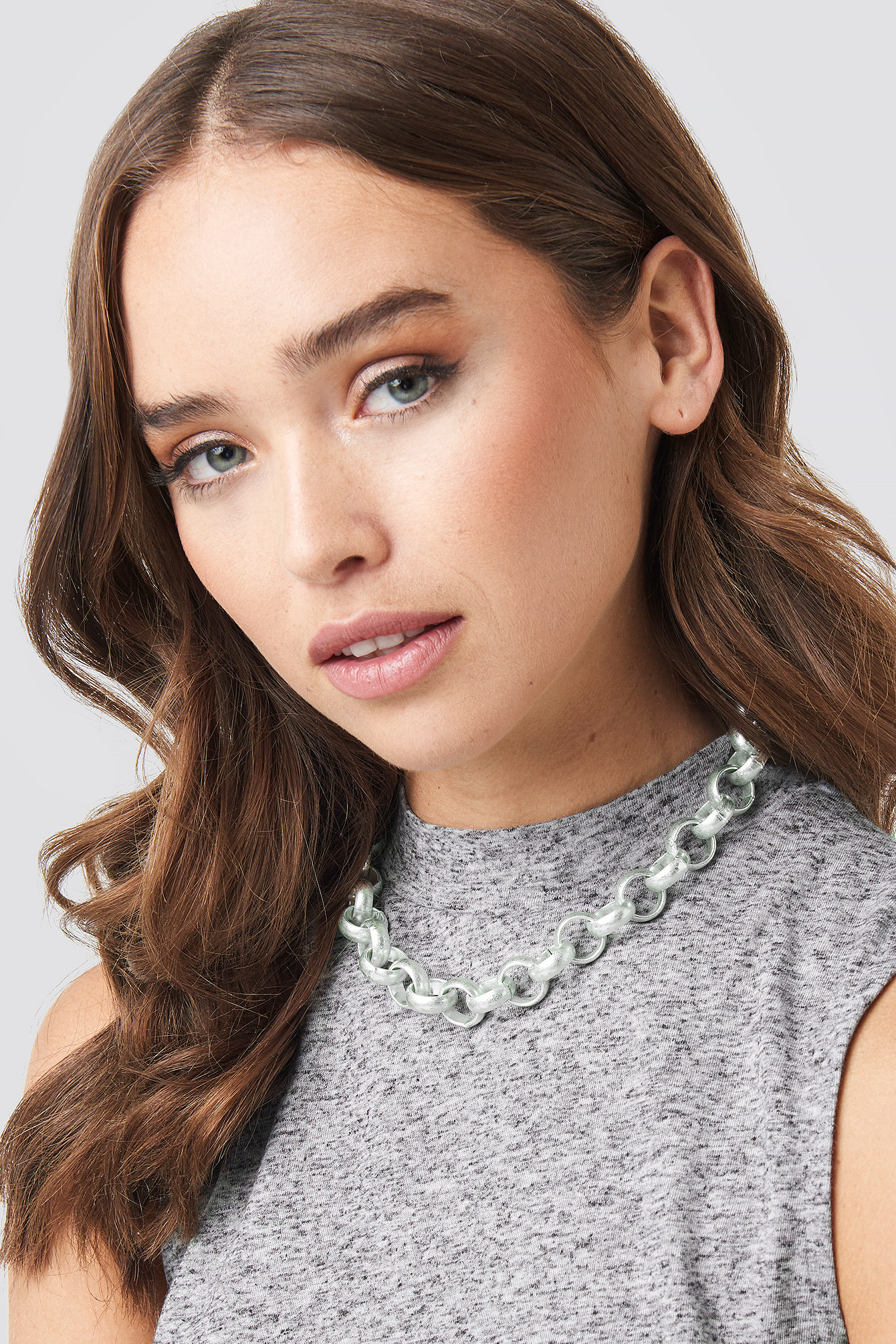 na-kd accessories -  Matte Chunky Chain Necklace - Silver