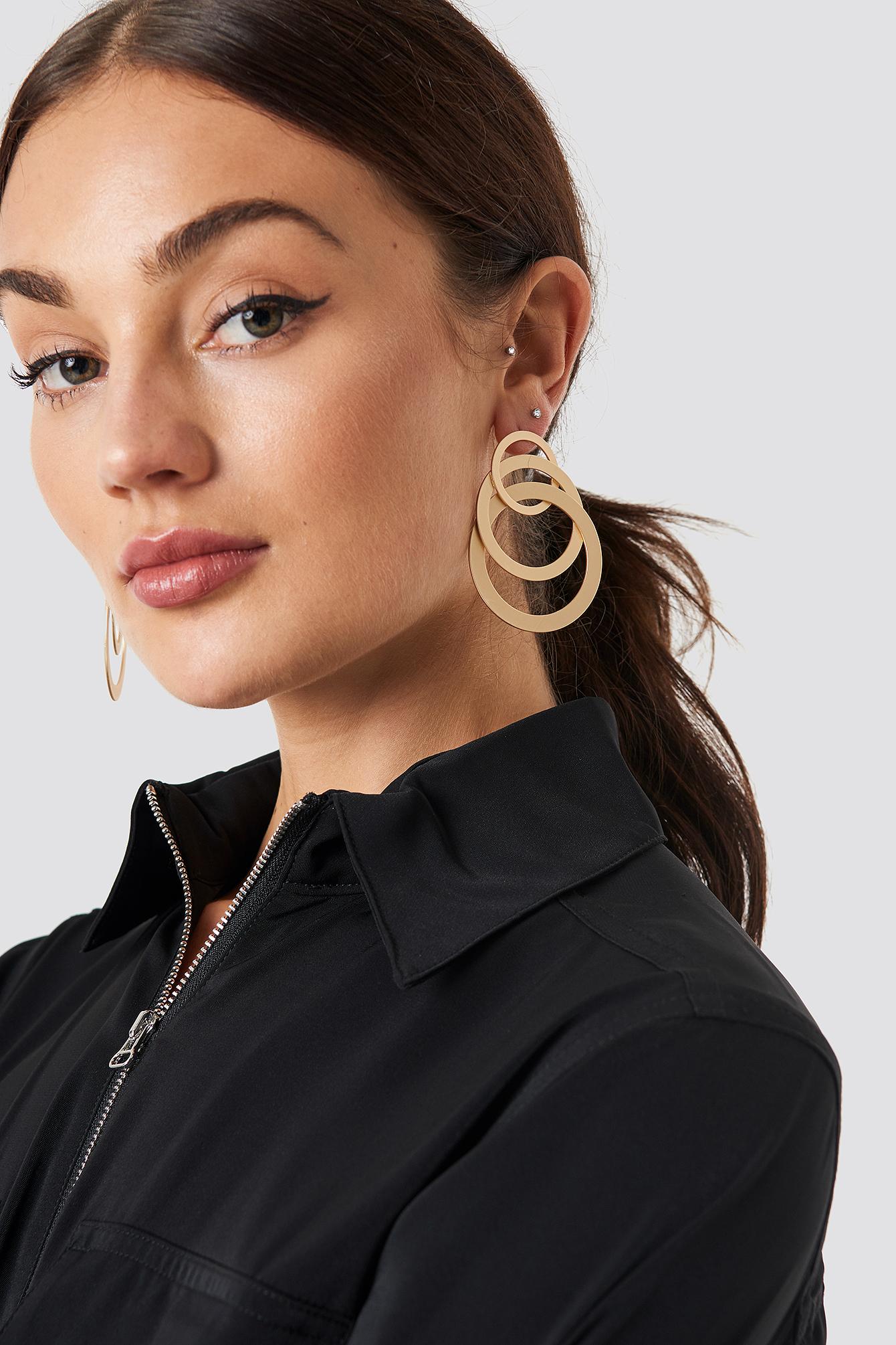 Matte Layered Hoops Earrings NA-KD.COM