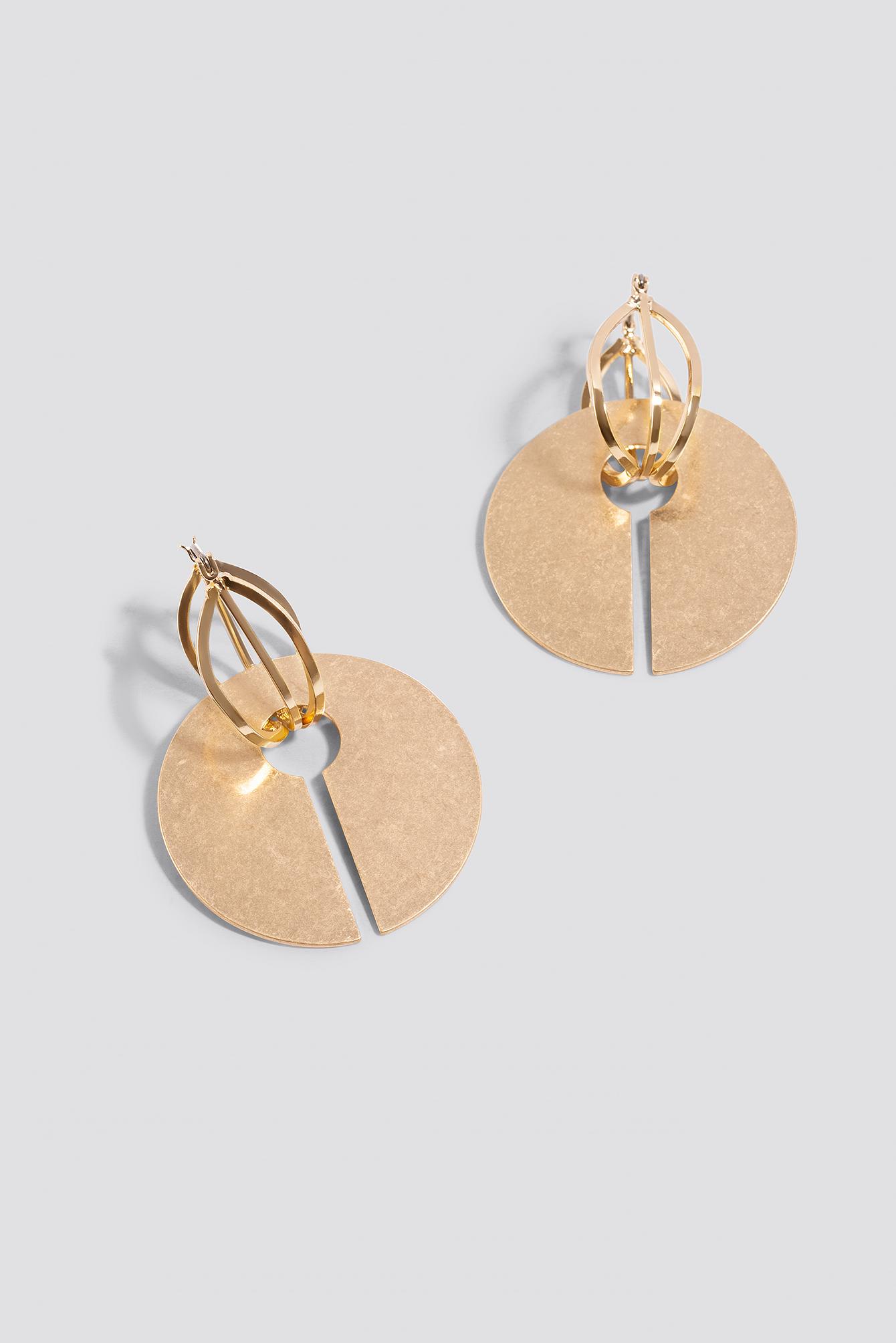 Matte Open Plate Earrings NA-KD.COM