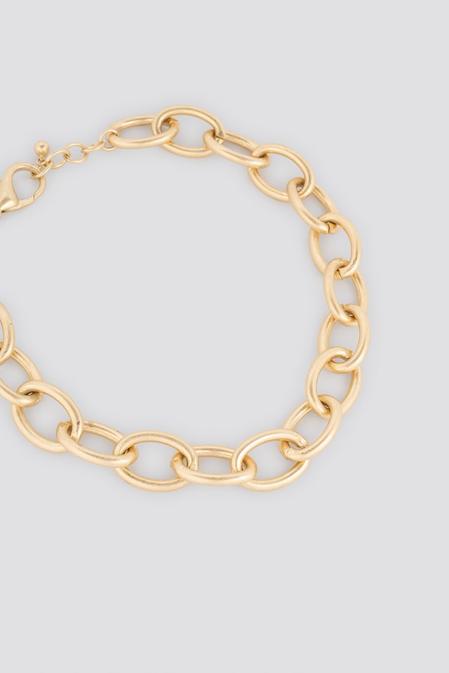 Matte Oversize Chain Necklace Gold