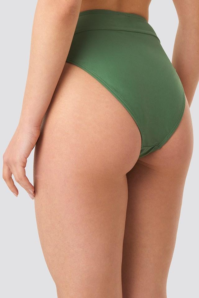 Maxi High Waist Bikini Panty Khaki