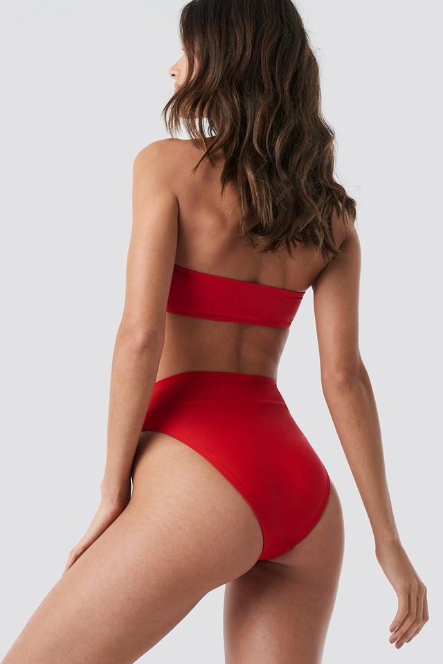 Maxi High Waist Bikini Panty Red