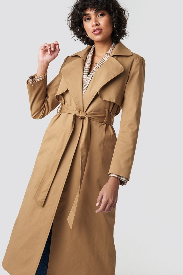 Maxi Trench Coat Camel