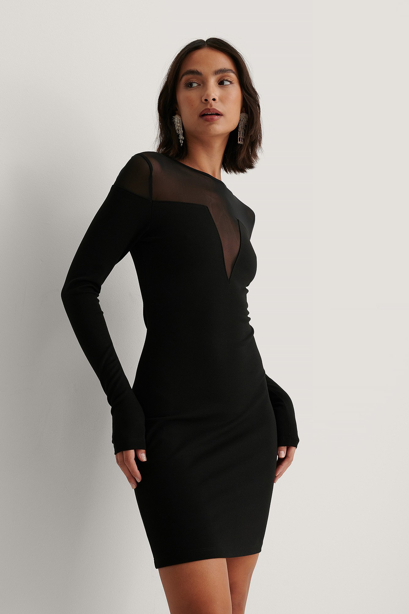 Black Bodycon-Kjole