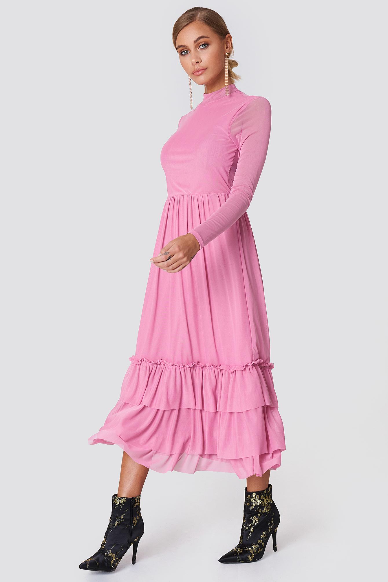 Mesh Frill Dress NA-KD.COM
