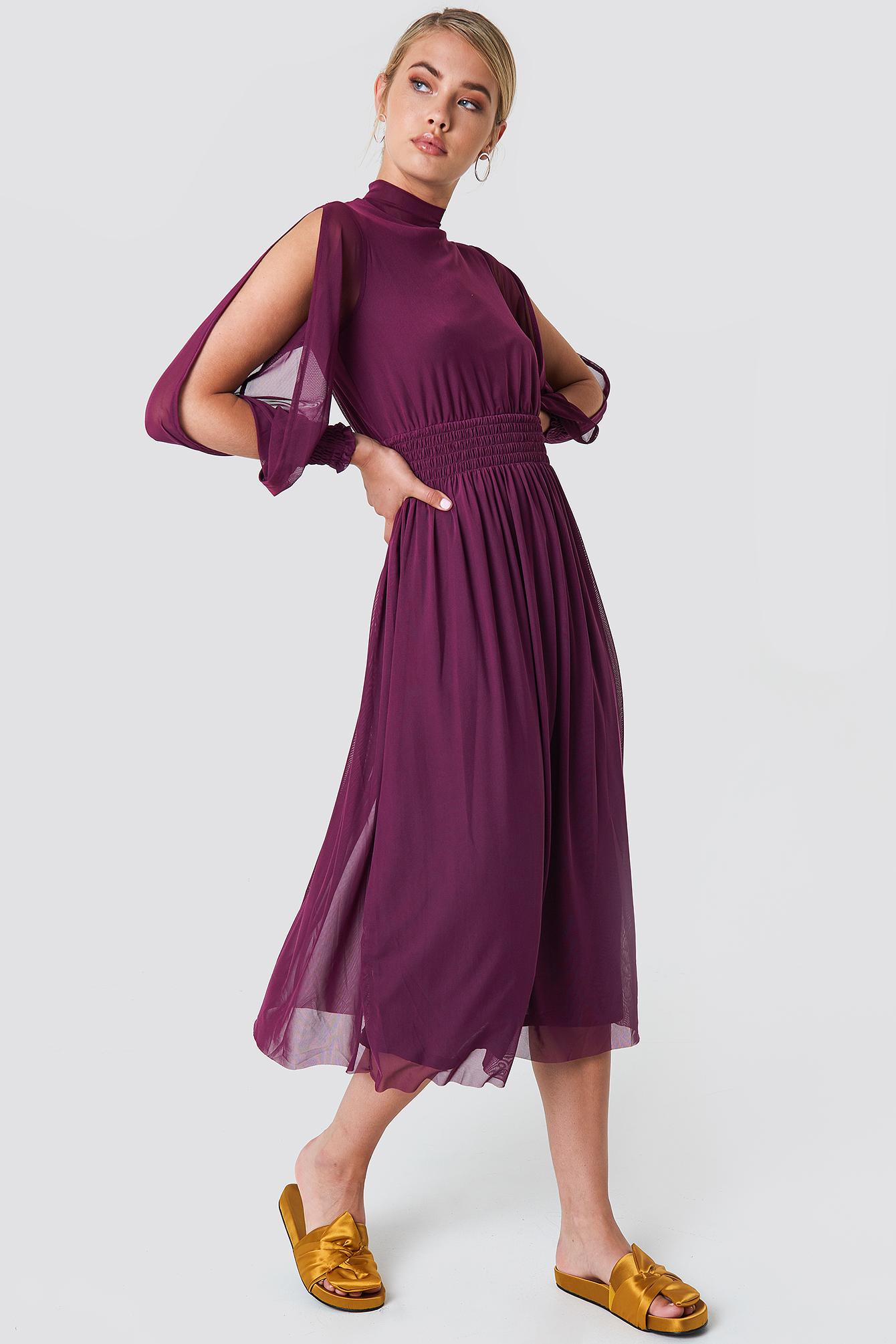 Mesh Open Sleeve Dress NA-KD.COM