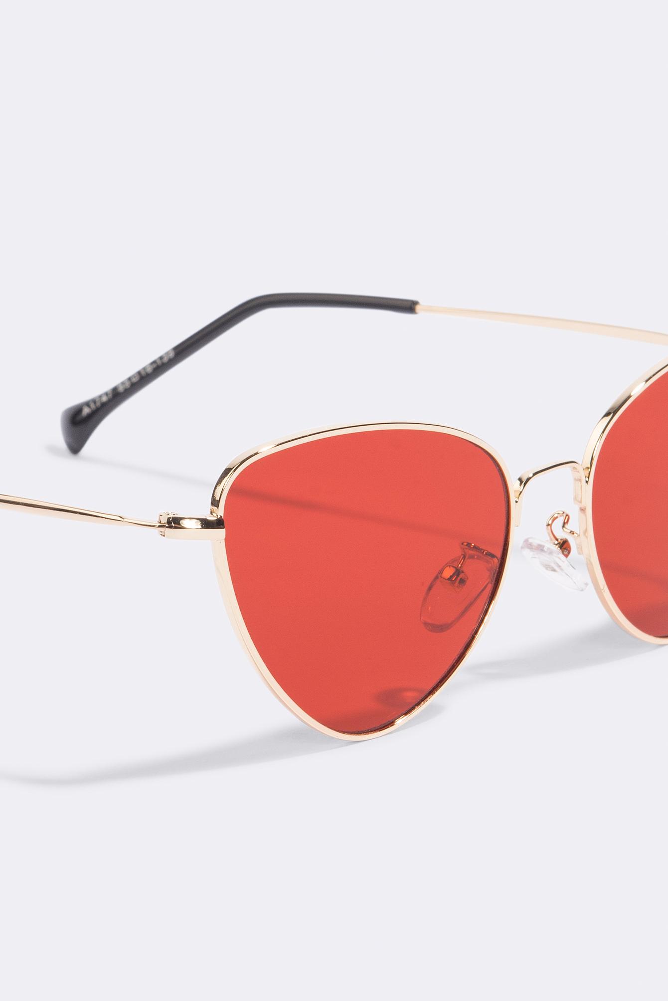 NA-KD Accessories Metal Frame Cat Eye Sunglasses - Red jjW1ubzJd