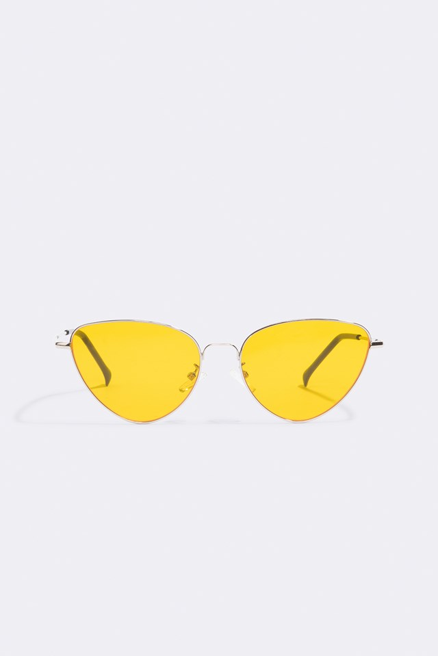 Metal Frame Cat Eye Sunglasses Yellow