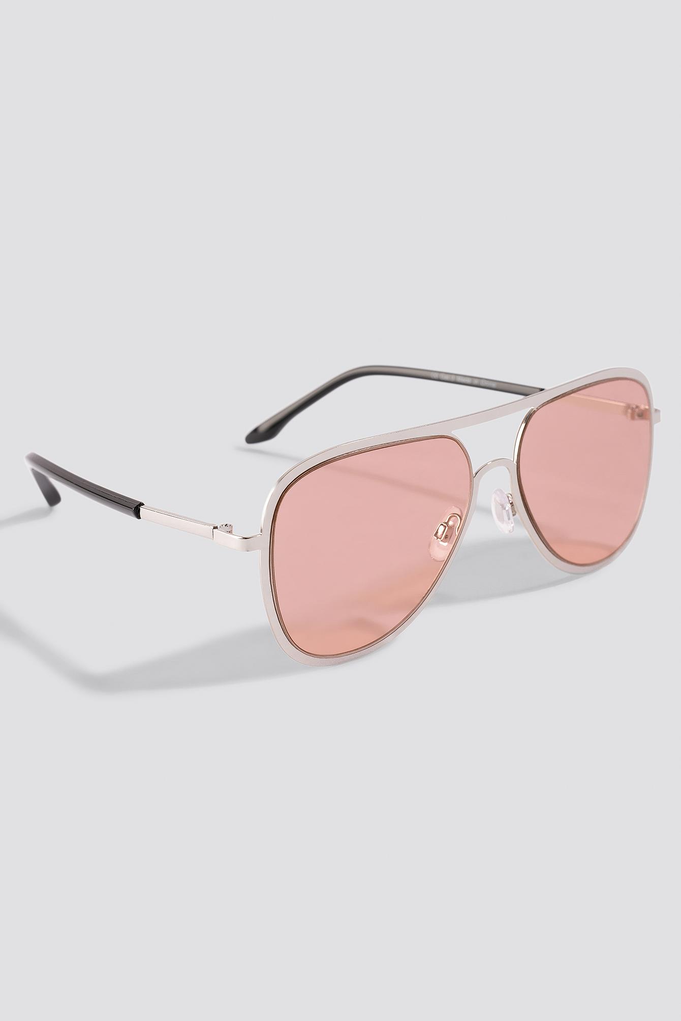Metal Frame Pilot Sunglasses NA-KD.COM