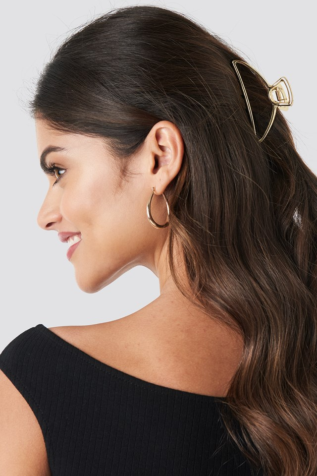 Metal Hair Clip Gold