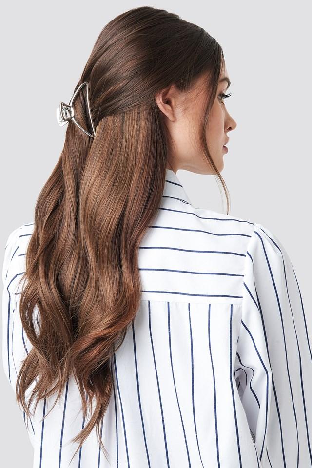 Metal Hair Clip Silver
