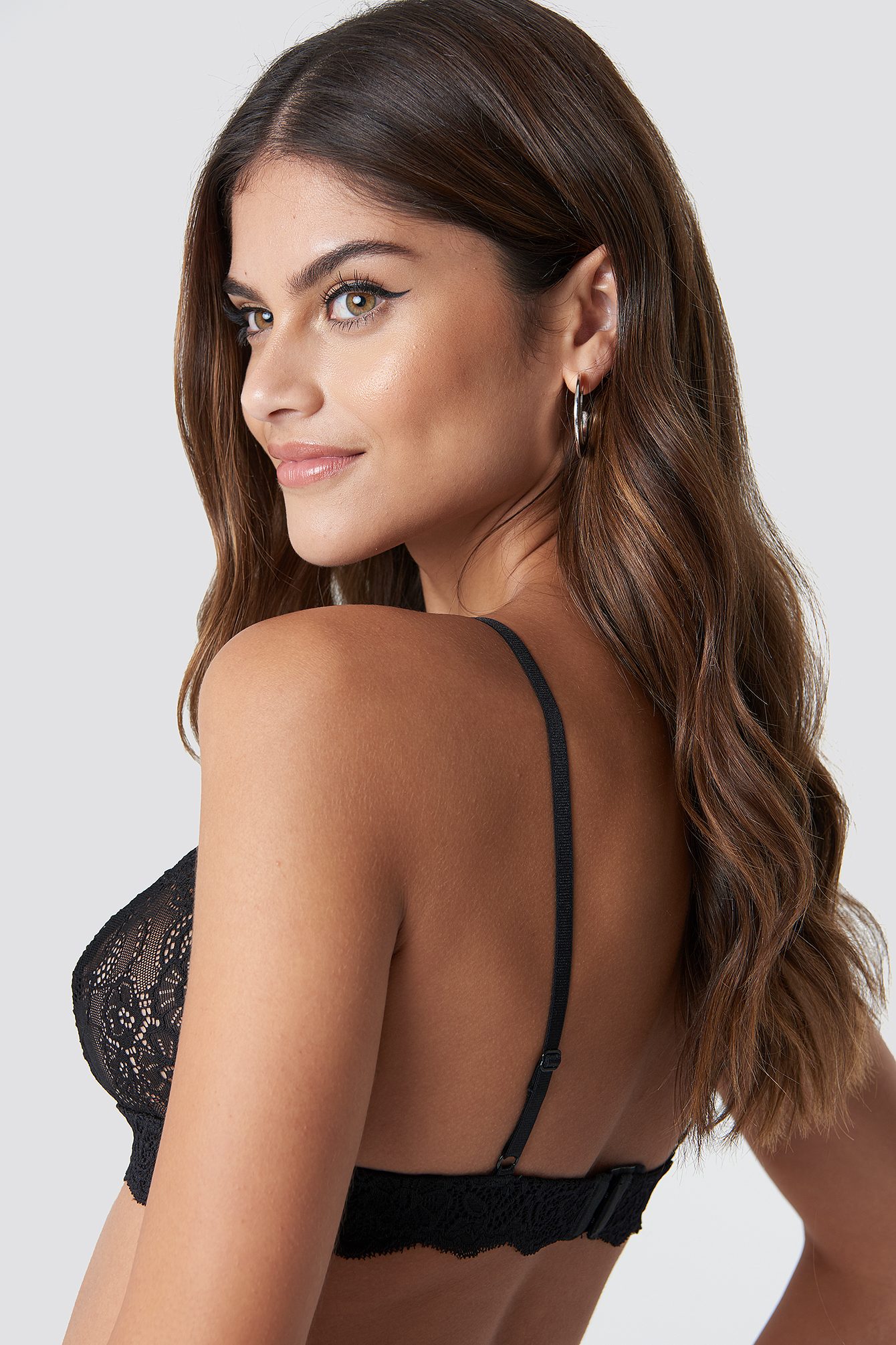 Metal Loop Lace Bra NA-KD.COM