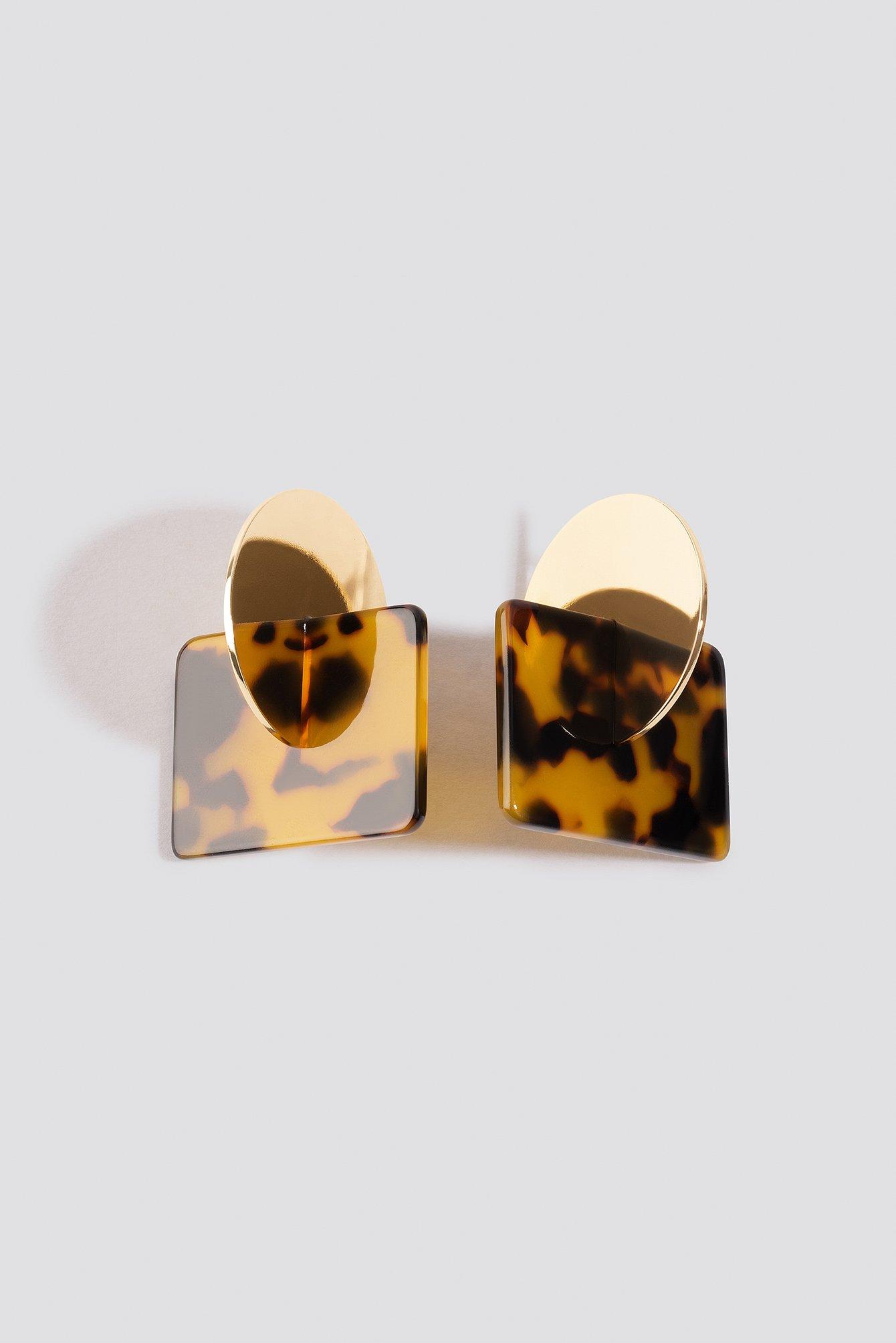 Metal Plate Tortoise Earstuds NA-KD.COM