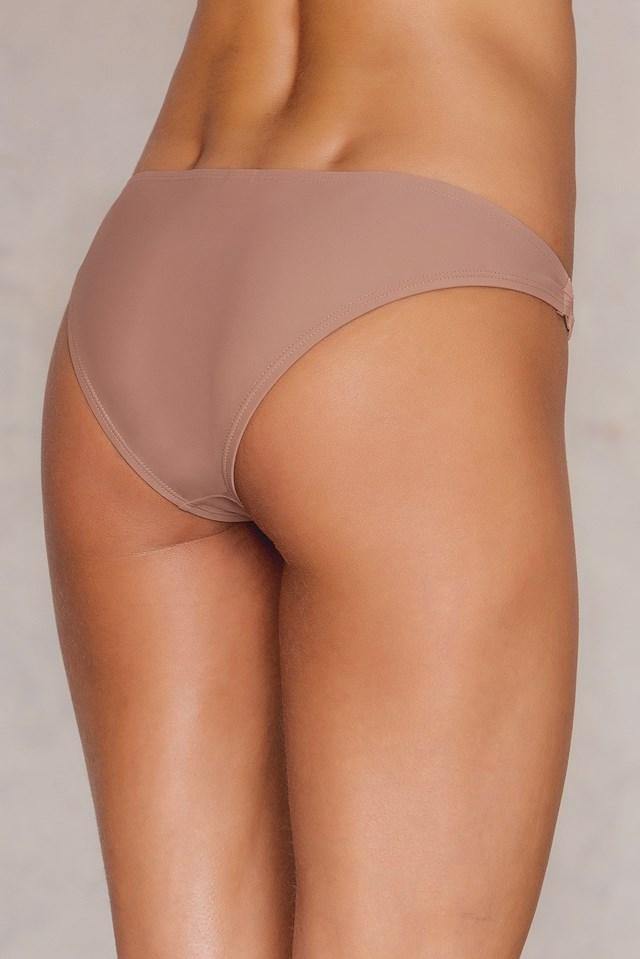 Metal Ring Bikini Pantie Dusty Dark Pink