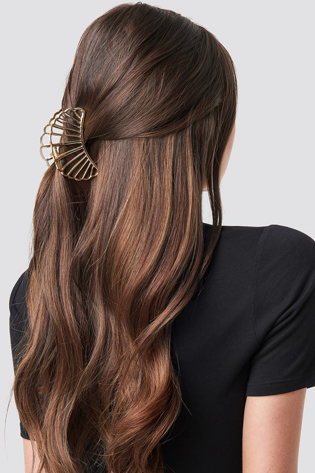 Metal Shell Hair Clip Gold