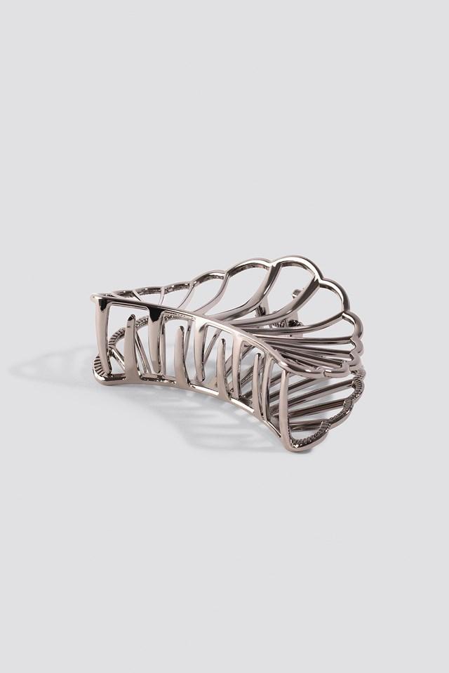 Metal Shell Hair Clip Gunmetal
