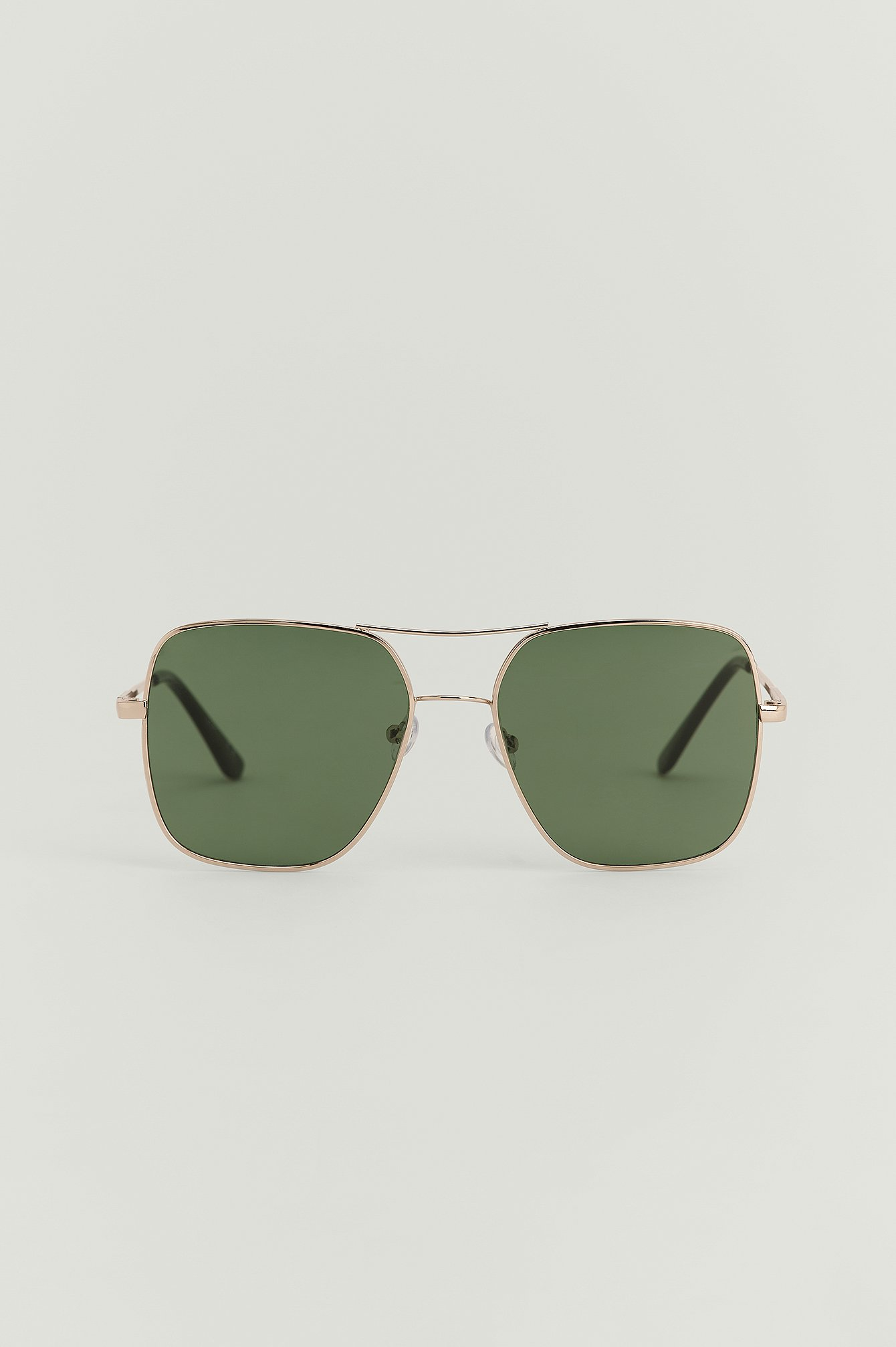 na-kd accessories -  Eckige Metall-Sonnenbrille - Silver